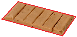 rectangular exterior of the candy bar