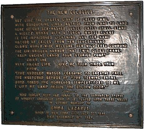 Photo of __The New Colossus__ plaque