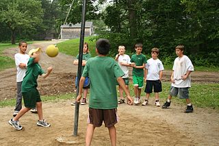 Kids Playing Tetherball