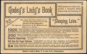 Advertisement in Godeys Ladys Book