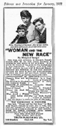 Woman and the New Race, book by Margaret Sanger
