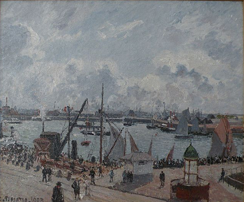 A painting of the docks of Le Havre, France, by Camille Pissaro