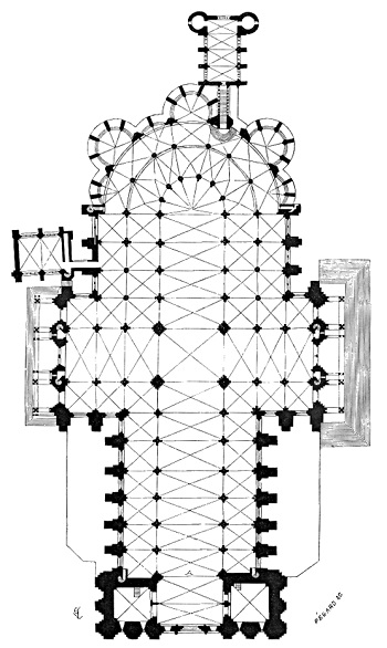 Layout Of The Chartres Cathedral