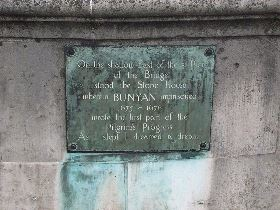 Plaque of John Bunyan