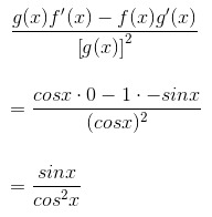 Derivative Of Secx