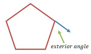What is a polygon definition shapes angles video for Exterior of an angle definition