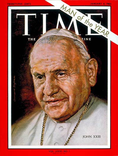 In 1962, Pope John XXIII was named
