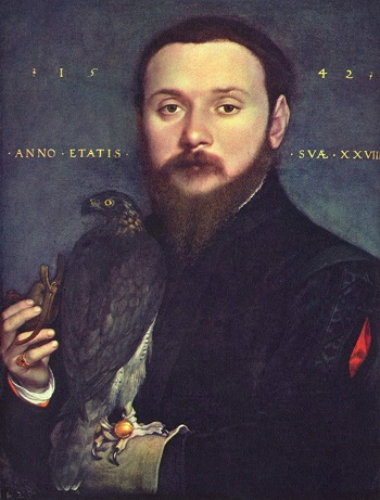 Hans Holbein Portrait of a Man with a Falcon 1542