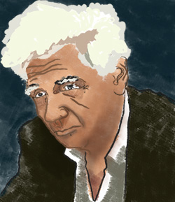 portrait of Jacques Derrida