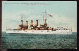 Postcard Of U.S.S. Connecticut