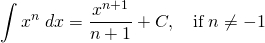Power rule for antiderivatives