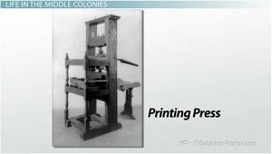 Printing in Middle Colonies