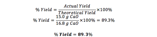 How to Calculate Percent Yield: Definition, Formula & Example ...
