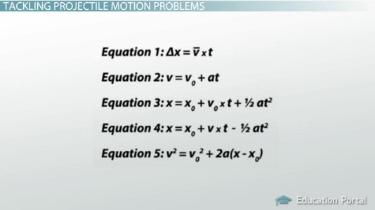 Projectile Motion Definition And Examples Video Lesson