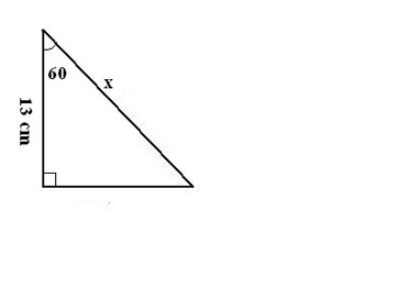 how to find the hypotenuse of a triangle with only one side