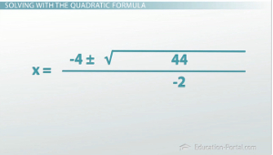 Quadratic Example 1 Answer