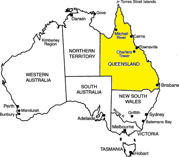 queensland is located on the northeast side of the country and is more tropical than the other states since there are only 6 states in australia map tests