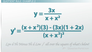 Quotient Rule Example 2
