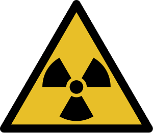 Special signs indicate the presence of radioactivity