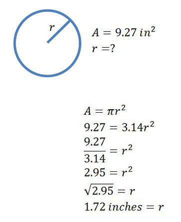 Finding the radius formula concept study summary the two formulas that are useful for finding the radius of a circle ccuart Choice Image