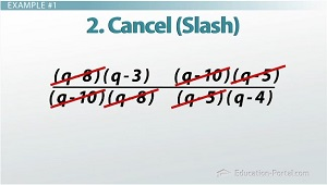 Rational Polynomial Cancel Out Example