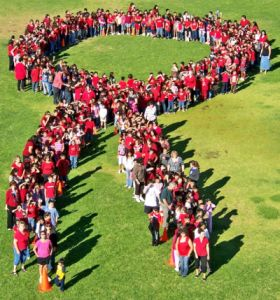 red ribbon week students