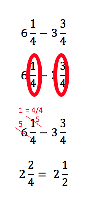 Subtracting fractions with regrouping study by subtracting the fractions as we did earlier when we try to do this we see the denominators are the same so we look to subtract the numerators ccuart Gallery