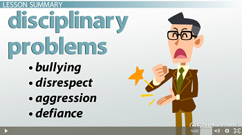 Disciplinary Problems in the Classroom: Types & Causes - Video