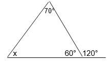 Solve For Unknown Angle X In The Following Triangle Using Remote Interior  Angles.