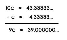 Repeating Decimal Example