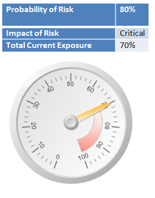 Graphical tool for reporting risk