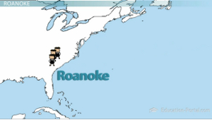 Roanoke Colony Map