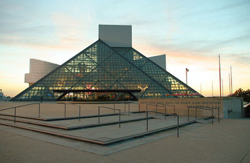 Rock and Roll Hall of Fame from Lake Erie