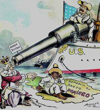 Roosevelt and the Monroe Doctrine political cartoons
