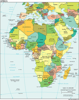 African Countries Names Map Studycom