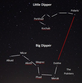 rsz_dipper_map big dipper & little dipper lesson for kids constellation & facts