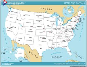 Identifying U S States On A Map Study Com