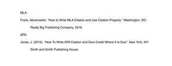 mla vs apa citation format