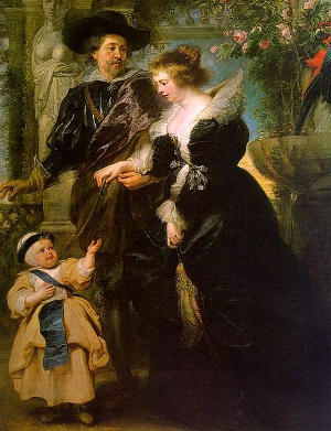 Rubens, Portrait of the Artist with his Wife Helene Fourment and their Son, Frans (c. 1635)