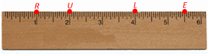 Ruler with points