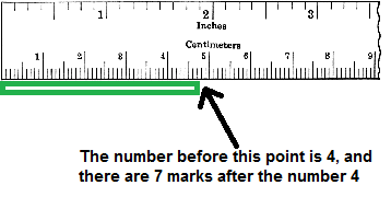 Determine The Number Of Centimeters By Identifying The Number Just Before The End Of The Object