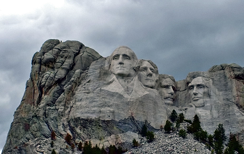 Mount Rushmore in the Black Hills of South Dakota