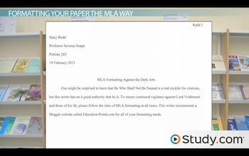 what is mla format video lesson transcript study com sample mla style paper
