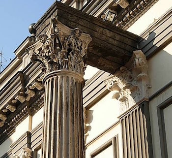 example of roman column done in the corinthian order