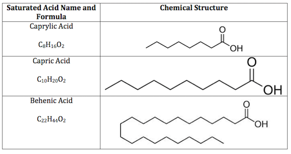 Saturated Fatty Acid Structure Formula Example Video Lesson