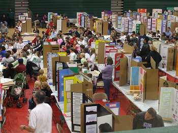 Photo of a county science fair.