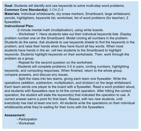 business development lesson plan