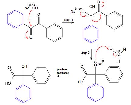 Write a detailed mechanism for the benzilic acid rearrangement ...