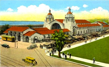 San Diego Railway Station In The Mission Revival Style