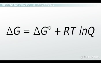 free energy change equation at all conditions